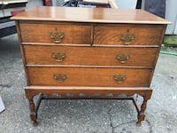 Antique Dresser 4 Drawer- Quarter Sawn Oak