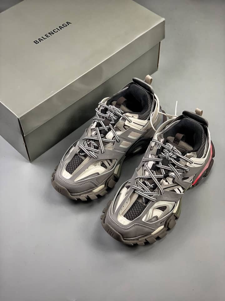 Best Quality Balenciaga Track Silver White Orange 483565 W06E1