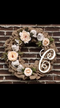 Farmhouse style burlap wreath St Albert, T8N