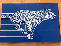 Metal Esso Tiger Gas Station Sign, oil can signs cans Imperial  Ottawa, K0A