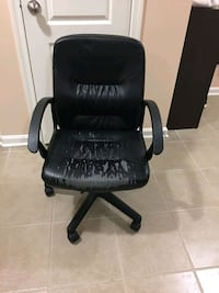 black leather padded rolling chair Laurel, 20723