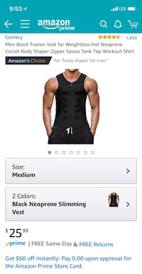 COMERY Men Waist Trainer Vest for Weightloss San Leandro, 94577