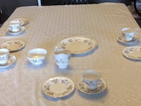 12 cups saucers and plates.(one cup missing) paragon fine bone china, plus cream, sugar and serving plate Hamilton, L8E 3M6