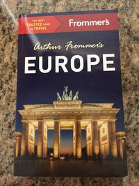 NEW Frommer's  EUROPE travel book.