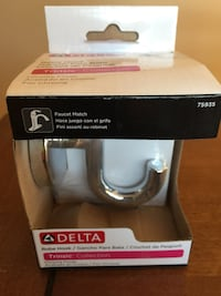 Delta Trinsic chrome robe hook, new in box Falling Waters, 25419