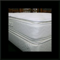 Twin mattress double pillowtop with box spring Laurel