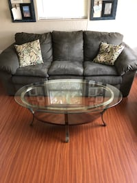 black and gray glass top coffee table Cocoa, 32926
