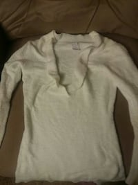 knitted white scoop-neck sweater Morristown, 37814