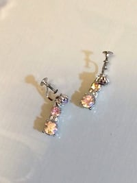 Vintage Aurora Borealis Crystal Earrings  Herndon, 20171