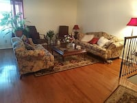 brown and beige floral living room sofa set Wilmington, 19810