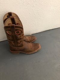 10.5 Brown leather cowboy boots HH Odessa, 79763
