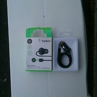 black Belkin charger with box 554 km