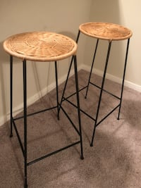 two brown-and-black metal stools Houston, 77060