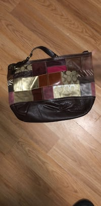 brown and black Coach monogram shoulder bag Hamden, 06514