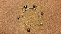 silver-colored with assorted stones bracelet Poynette, 53955