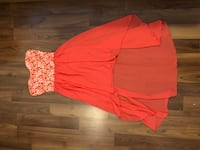 Coral high-low dress size S  Vancouver, V5Z