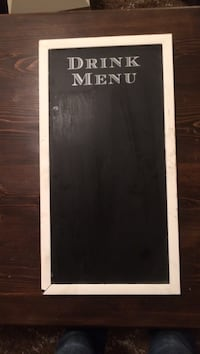 Wedding chalk menu sign