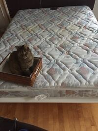 Queen white bed frame Montreal, H3K