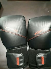 pair of black leather boxing gloves Toronto, M2R 3P1