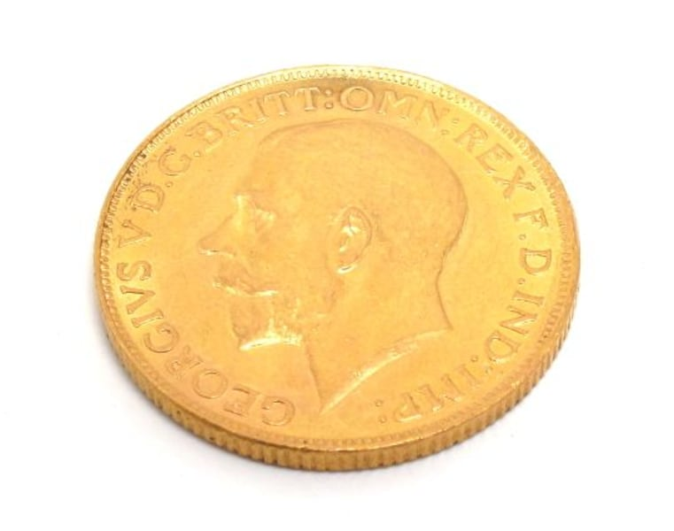 King George V 1927 Gold Sovereign Coin 6152798e-b9b4-4075-a053-4edfdb61a3a4
