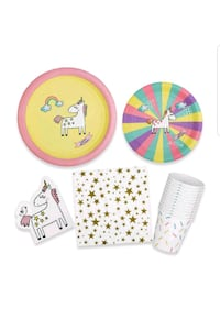 Premium Unicorn Party Supplies - 8 guests  Concord