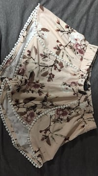 brown and white floral shorts Manhattan, 66503