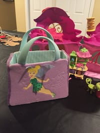 Tinker bell house and purse with furniture