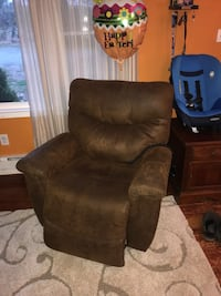 LA-Z-BOY Brown suede leather recliner sofa chair Fairfax, 22030