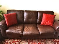 *REAL LEATHER SOFA COUCH*  New York, 11230