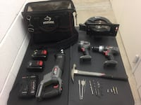7 piece power tools set with hammer bag and drill bits Frederick, 21702
