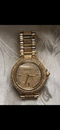 Iced out Michael Kors watch