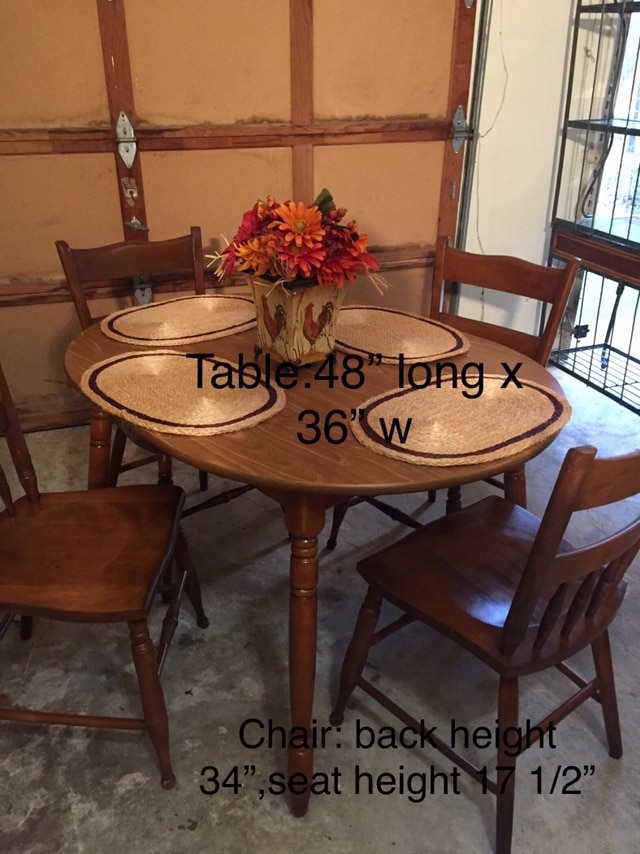 used reduced table 4 chairs for sale in fayetteville letgo rh gb letgo com