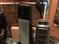black and silver air coolers