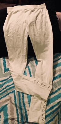OP Brand Off White Leggings w/Snaps Sz Small Cabot, 72023