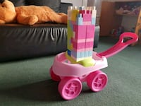 pink and white plastic toy