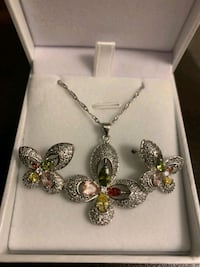 Necklace Earrings Set - 925 Sterling Silver Mississauga, L5J 2B9