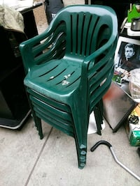 green plastic monobloc armchair lot Los Angeles, 91402