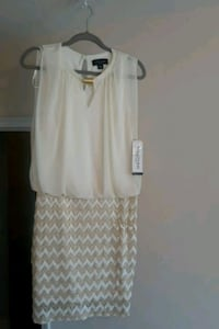 white scoop neck sleeveless dress Baltimore, 21218