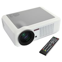 "LED Projector Model LED-66 w/ 100"" screen Savage, 20763"