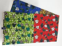 green, red, and blue floral textile Toronto, M3H 2S5