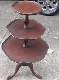Brown wooden round side table Harvest, 35749