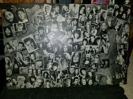 Mounted wooden poster of all the great performers
