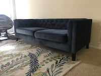 Midnight Blue Velvet Kendall Couch Fairfax, 22030