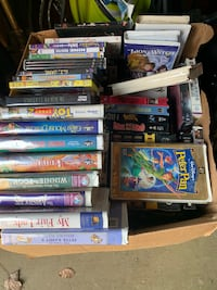 Bunch of VHS and some DVD movies Wilmington