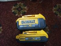 2 dewalt lithium ion batteries with two chargers Manchester, 03102