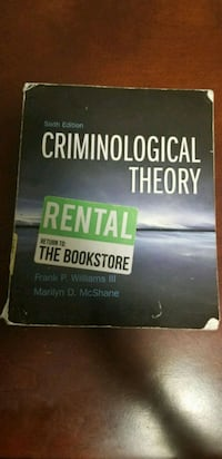 Criminological Theory 6th Edition paperback West Haven, 06516
