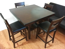 New solid wood dining table with chairs