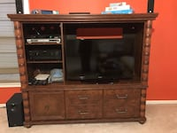 brown wooden TV stand with flat screen television Nokesville, 20181
