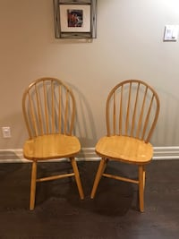 A pair of Wooden Chair Vaughan, L4J 1J7