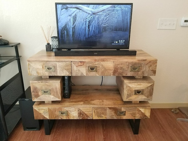 Used Wooden Tv Stand W Storage For Sale In New Berlin Letgo